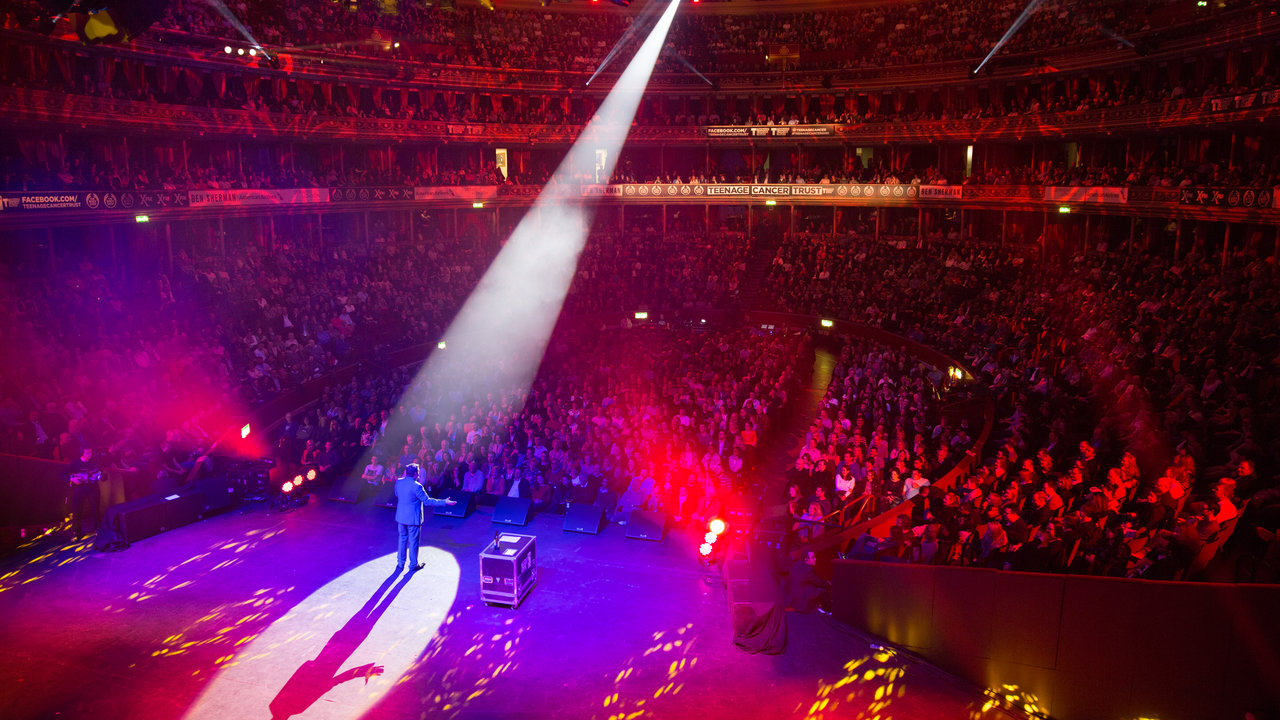 Hal Cruttenden live on stage during the Teenage Cancer Trust Concert Series at the Royal Albert Hall.
