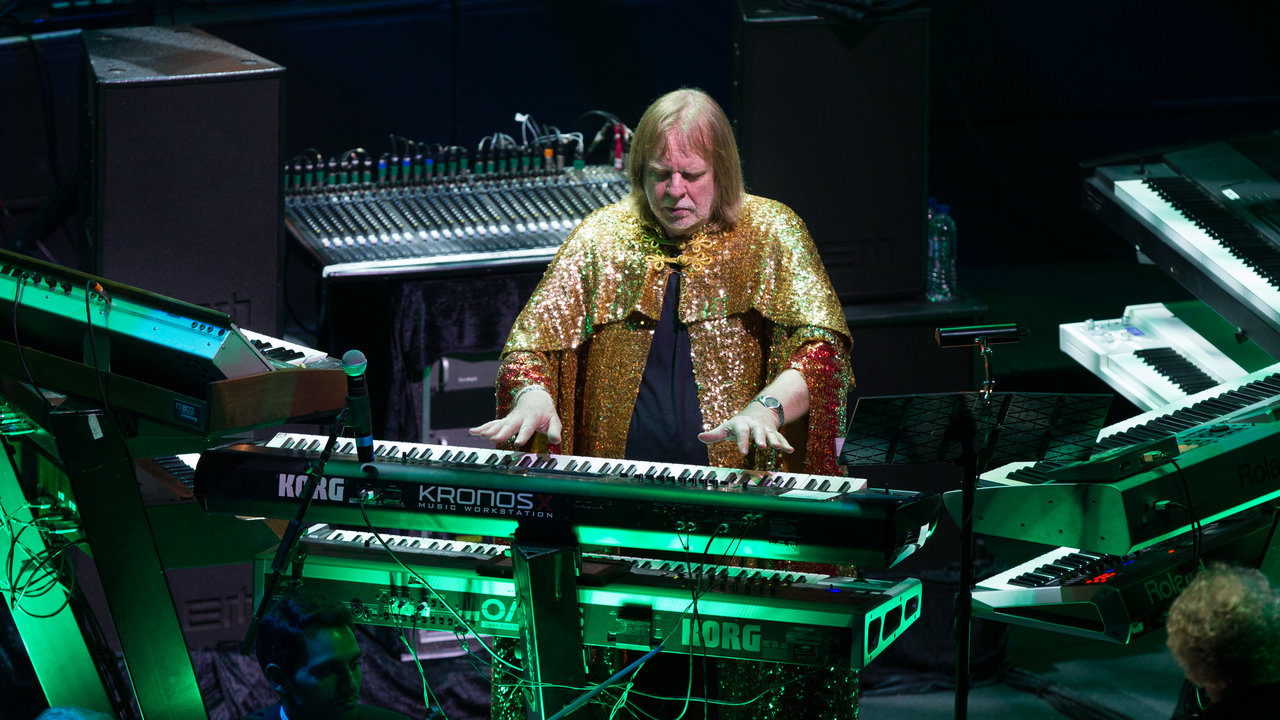 Rick Wakeman performing 'The Journey to the Centre of the Earth' at the Royal Albert Hall.