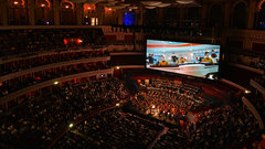 21st Century Symphony Orchestra and Chorus conducted by Ludwig Wicki performing the UK Premiere of Star Trek Live in Concert at the Royal Albert Hall.