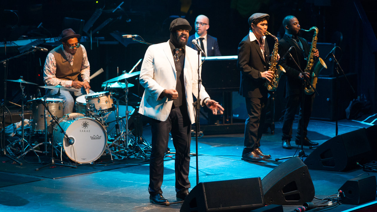 Jazz vocalist Gregory Porter performing during BluesFest at the Royal Albert Hall.
