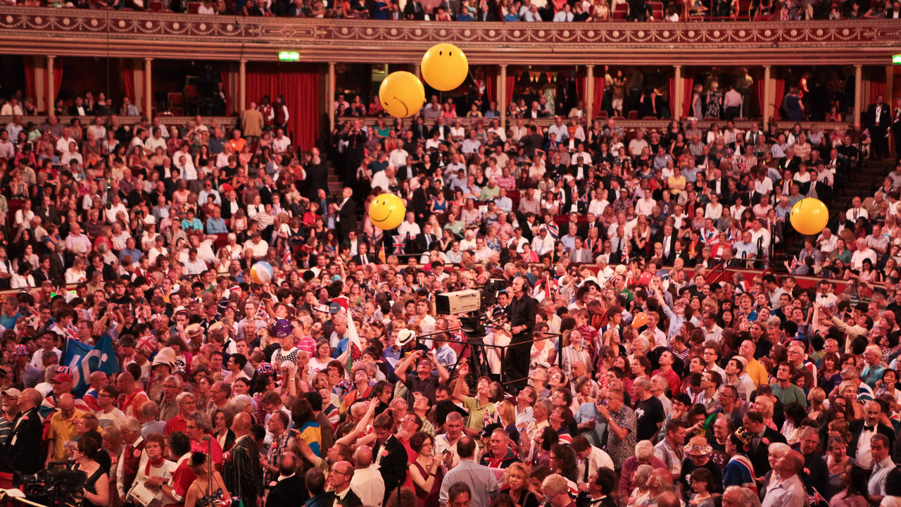 Audience during the Last Night of the Proms 2012 at the Royal Albert Hall.