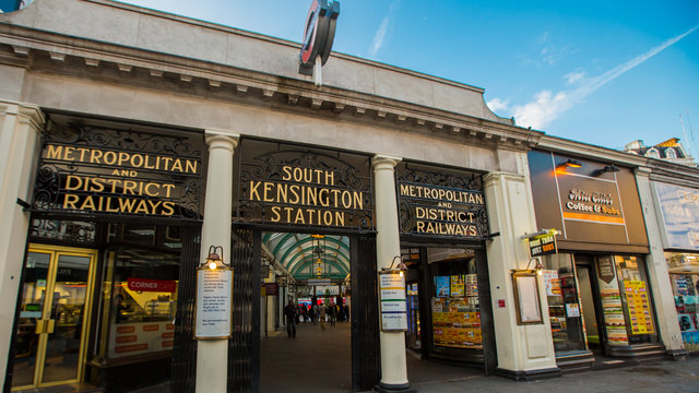 South Kensington Tube Station.
