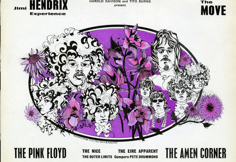 Poster: Pink Floyd and Jimi Hendrix at the Royal Albert Hall, 1967)