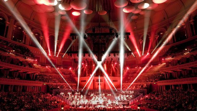 Royal Philharmonic Orchestra performing Symphonic Rock at the Royal Albert Hall.