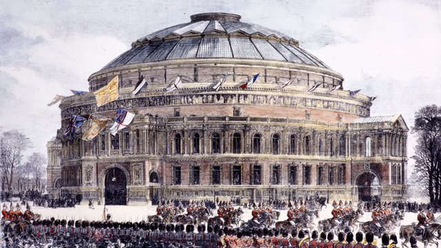 Image of the Official Opening of the Royal Albert Hall of Arts and Sciences.