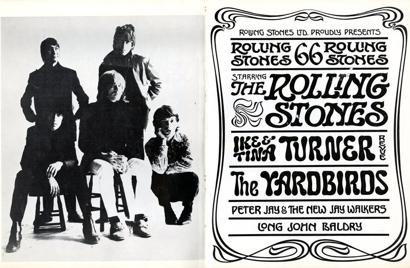 1966 programme from The Rolling Stones at the Royal Albert Hall