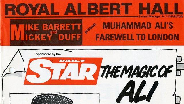 1979 programme from Muhammad Ali