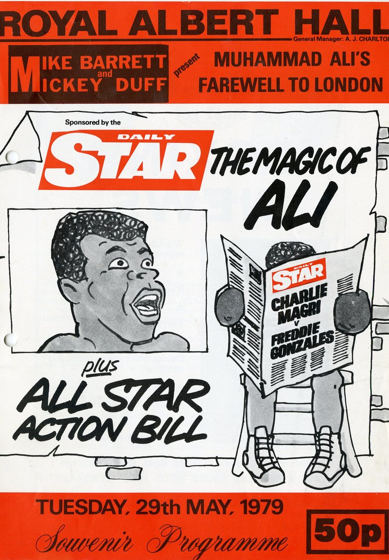 1979 programme from Muhammad Ali's Farewell to London - The Magic of Ali at the Royal Albert Hall