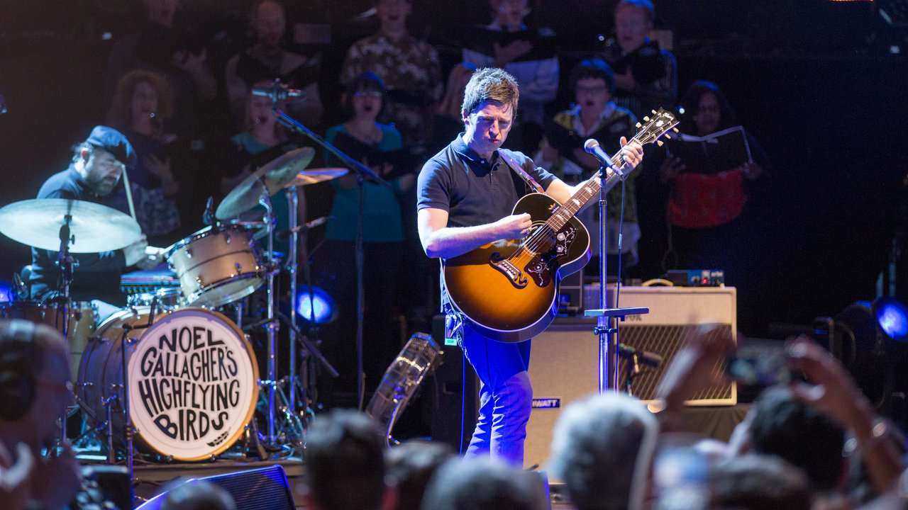 Noel Gallagher's High Flying Birds performing for the Teenage Cancer Trust at the Royal Albert Hall