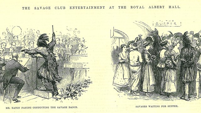 Costume ball held at the Royal Albert Hall by the Savage Club
