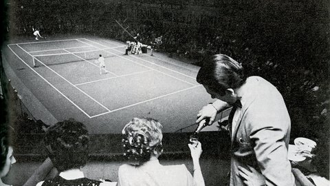 23 January 1973: Bubbles flow as spirit of Wimbledon comes to the Royal Albert Hall