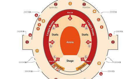 Venue plan royal albert hall royal albert hall for Door 12 royal albert hall