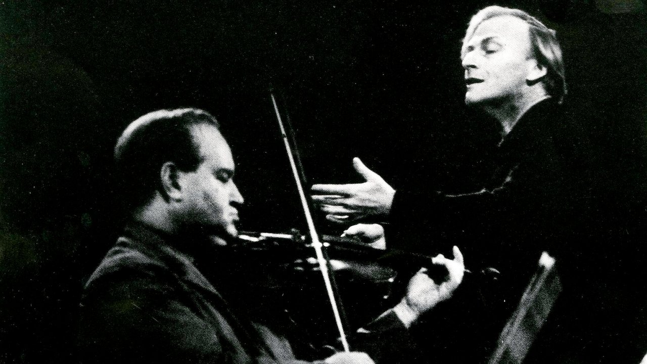 David Oistrakh and Yehudi Menuhin rehearsing at the Royal Albert Hall