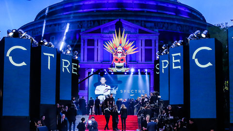 A Spectre spectacular at the Royal Albert Hall: Watch the red carpet preparations for the Royal World Premiere