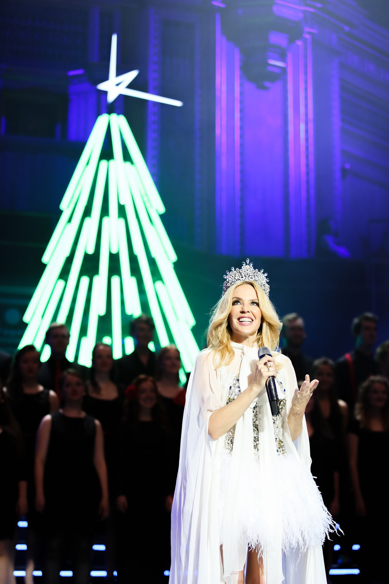 f1a553d2b In pictures  Kylie sparkles at her Royal Albert Hall debut show
