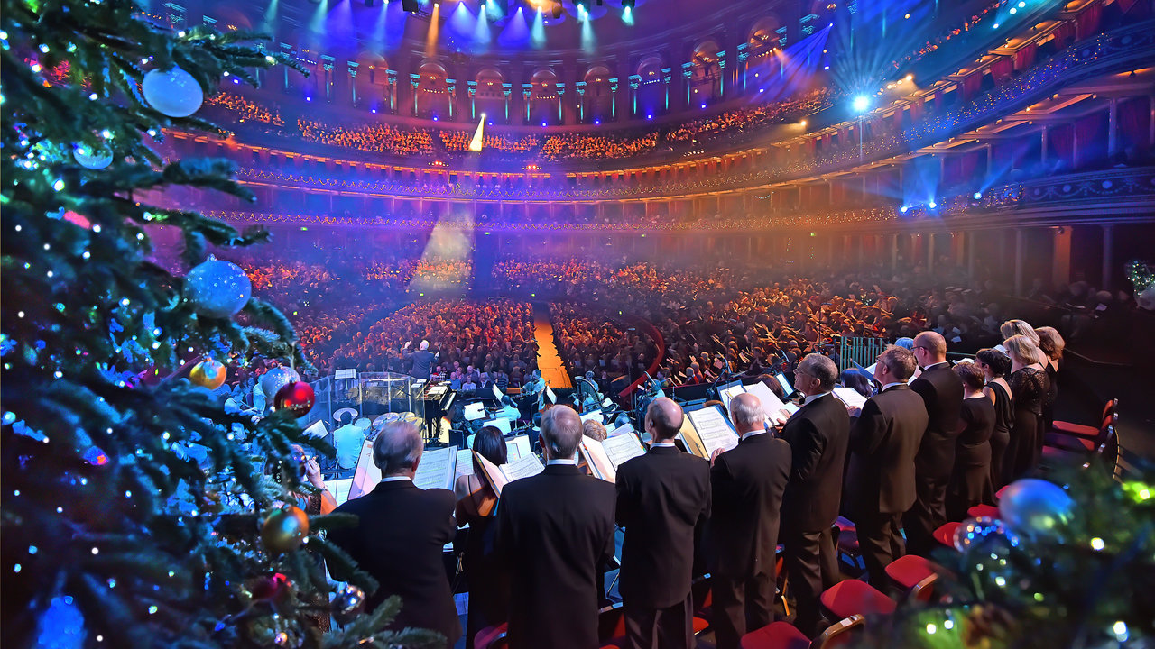 Audience at the Christmas Carol Singalong at the Royal Albert Hall. 23 December 2015