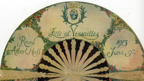 From the Archives: fan-shaped programme from the Versaille Ball, 5 June 1913