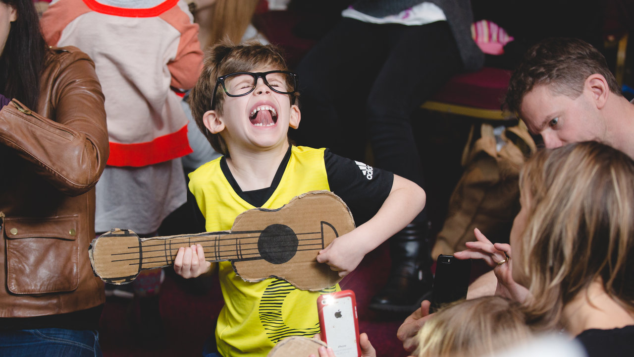 Nick Cope leads a Family Songbook show in the Royal Albert Hall's Heineken Green Room on 17 February 2016