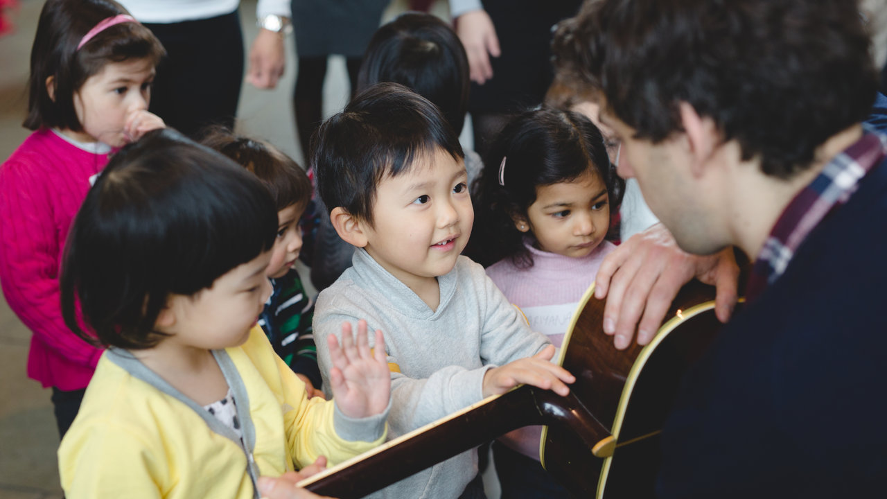 A Storytelling and Music Session for 0-4 Year Olds in the Royal Albert Hall's Door 9 Porch on 17 February 2016
