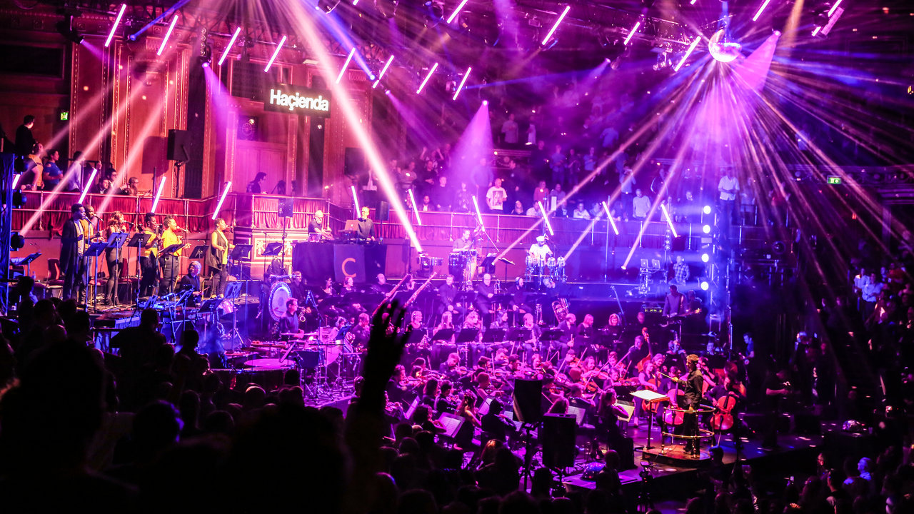 Haçienda Classical featuring DJs Graeme Park and Mike Pickering and the Manchester Camerata at the Royal Albert Hall on 23 March 2016