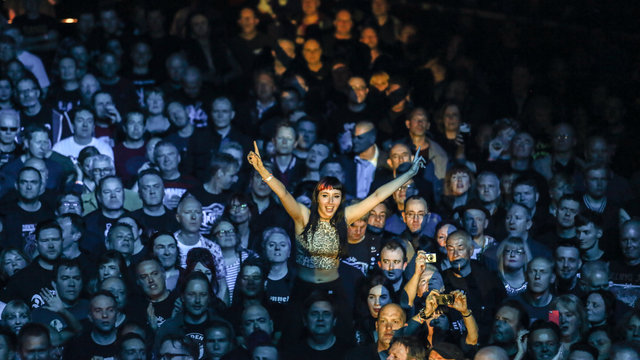 UK punk legends The Damned celebrate their 40th anniversary with a special performance at the Royal Albert Hall, 20 May 2016