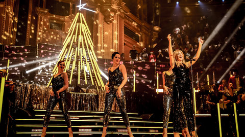 Kylie Minogue performs at A Kylie Christmas at the Royal Albert Hall on 9 and 10 December 2016