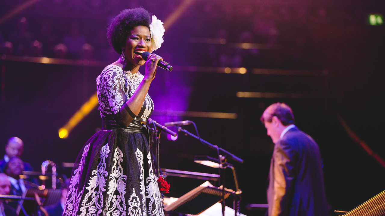 Vanessa Haynes and Guy Barker at Guy Barker's Big Band Christmas 11 December 2016