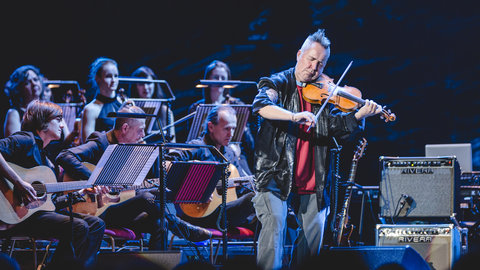 Exclusive photos: Behind the scenes with Nigel Kennedy, as the world