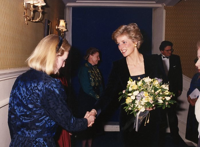 HRH Diana, Princess of Wales attending Handel's 'Messiah', in aid of The Malcolm Sargent Cancer Fund for Children