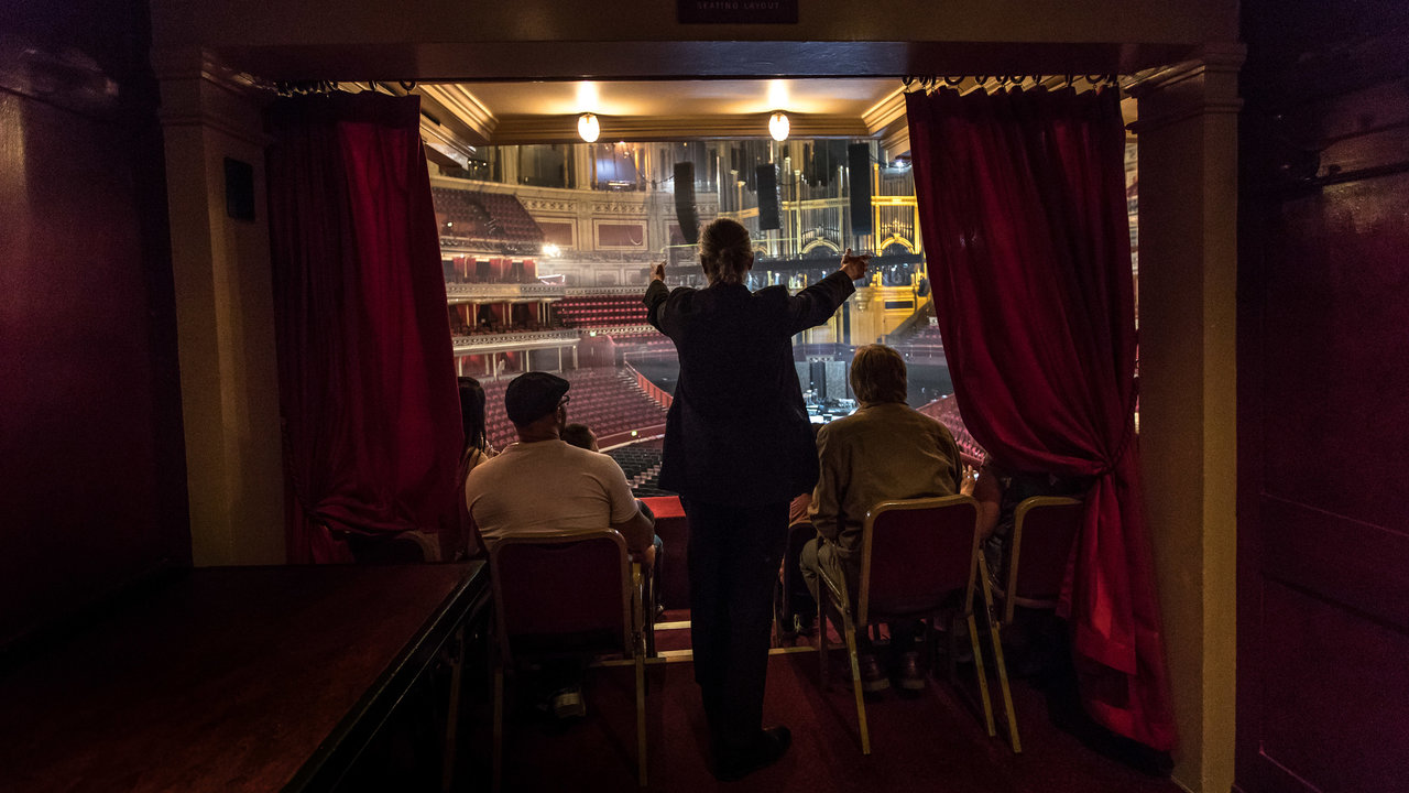 A tour group soaking up the spirit of the main auditorium from a Grand Tier box. Photo taken by Anna Kunst