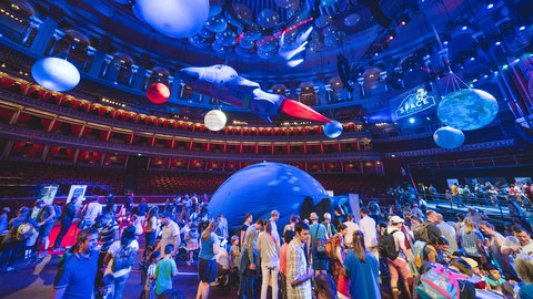 Exclusive photos: exploring an intergalactic universe inside the Royal Albert Hall at The Big Space Day
