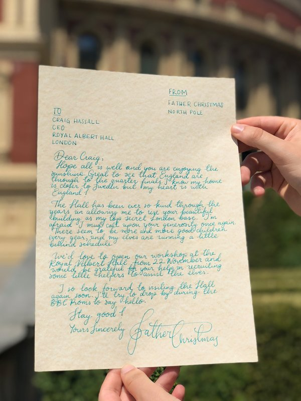 A midsummer letter from father christmas royal albert hall royal letter from father christmas spiritdancerdesigns Image collections