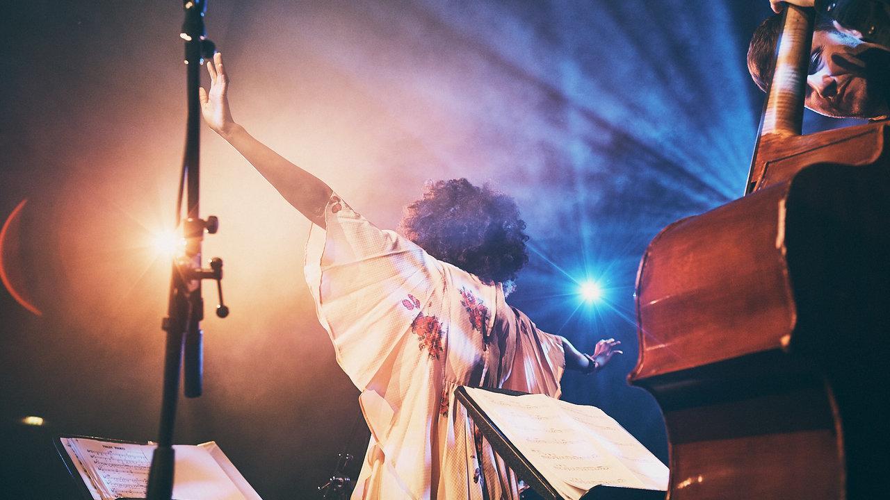 Cherise Adams-Burnett performs a Late Night Session in the Elgar Room, as part of the London EFG Jazz Festival on Wednesday 21 November 2018