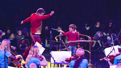The first My Christmas Orchestral Adventure at the Royal Albert Hall on Saturday 15 December 201