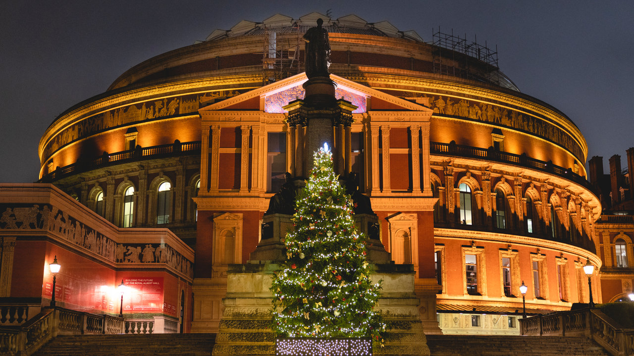 Christmas decorations at the Royal Albert Hall 2018