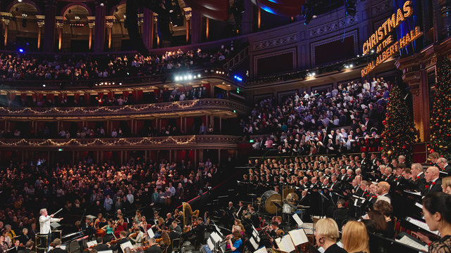 Christmas with the Royal Choral Society at the Royal Albert Hall on Tuesday 10 December 2019 © Andy Paradise