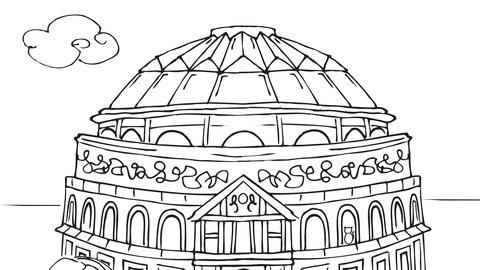 Colour the Hall: Download and print Royal Albert Hall colouring sheets