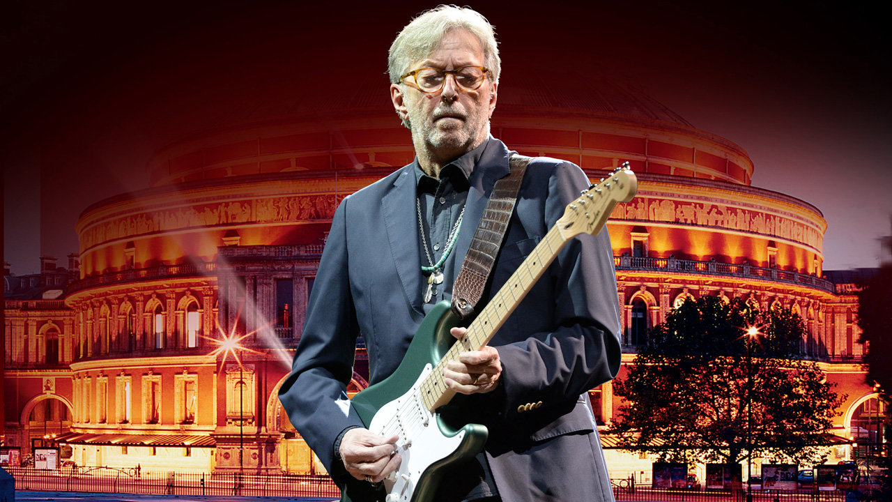 Eric Clapton in front of the Royal Albert Hall