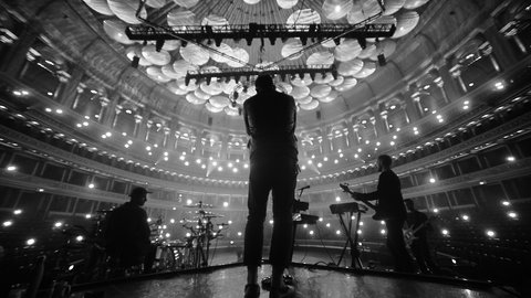 Pictures and reactions: Architects perform in the empty Royal Albert Hall for an exclusive worldwide streaming event