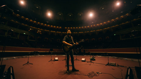 Pictures and reactions: Passenger performs in the empty Royal Albert Hall