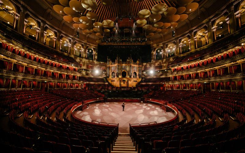 Passenger in the empty Royal Albert Hall © Zakary Walters